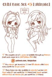 Chibi Pose Reference (Ultimate Chibi Base Set #5) by Nukababe
