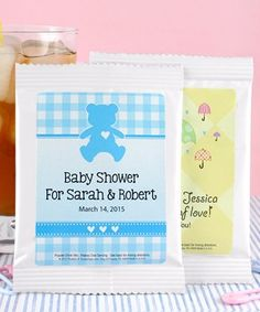 Iced Tea Baby Shower Favors - Your guests will have sweet summertime memories of your new baby as they sip their refreshing iced tea. http://www.favorfavorbaby.com/p-DD5423100.htm