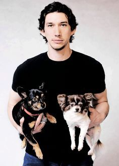 Adam Driver and puppies. You're Welcome!
