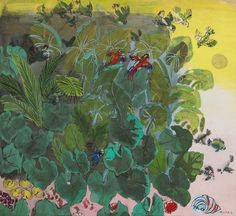 Foliage and Parrots   -   Raoul Dufy  1929.French  1877-1953