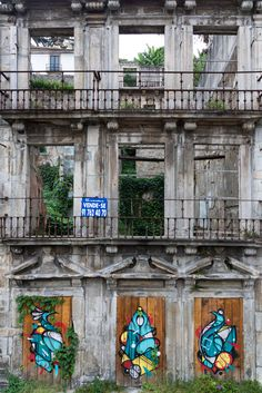 once a grand building.. now just a ruin ... Oporto Portugal