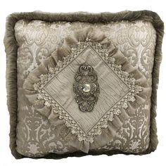 Luxury Neutral Accent Pillow with Swarovski Medallion 20x20 Luxury Duvet Covers, Luxury Bedding Sets, Luxury Sheets, Neutral Bed Linen, Accent Pillows, Throw Pillows, Linen Pillows, Modern Luxury Bedroom, Modern Bedding