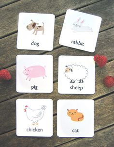 Small animal flash cards for children. If you have kids who will like this- free templates are here: www.mrprintables.com/animal-flash-cards.html   Nice picture!