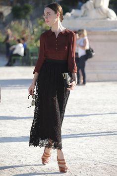 Burgundy Blouse   Ulyana Sergeenko   tags: hijab fashion, hijab outfit, hijab style, hijab inspiration