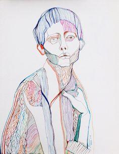 Cooper by Natasa Kekanovic - Art And Illustration, Gravure Illustration, Kunst Inspo, Art Inspo, Art Sketches, Art Drawings, Art Hoe, Art Graphique, Art Plastique