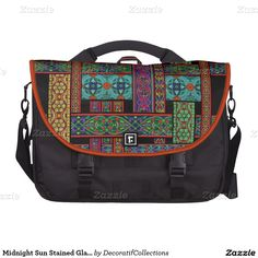 Midnight Sun Stained Glass Laptop Bag