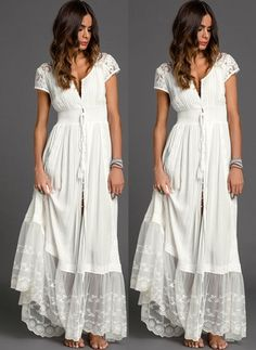 Solid Embroidery Peasant Maxi Shift Dress Latest fashion trends in women's Dresses. Shop online for fashionable ladies' Dresses at Floryday – your favourite high street store. Dress Outfits, Casual Dresses, Fashion Dresses, Summer Dresses, Ladies Dresses, Women's Dresses, Peasant Dresses, Shift Dresses, Women's Fashion