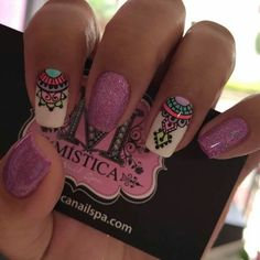 Beautiful nail art designs that are just too cute to resist. It's time to try out something new with your nail art. Love Nails, Pretty Nails, Tribal Nails, Nail Arts, Manicure And Pedicure, Diy Nails, Nails Inspiration, Beauty Nails, Summer Nails