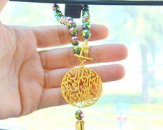 Green Muslim Car Rearview Mirror Charm, Islamic Auto Hanger Ornament, Arabic Car Decoration, Quran Car Protection, Bismillah Holy Dangler,  #islamicprotection #arabamuletboujix #muslimprotection #mussulmangoldjewel #muslimischehalskett #muslimearrings #maashallahbijoux #calligraphyearrings #arabicgoldearring #muslimsilvercharm #bismillahearrings #islamicearrings #allahearrings