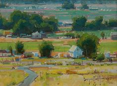 """""""Green and Gold"""", 9"""" x 12"""", oil, by BRYAN MARK TAYLOR. by Slusser Gallery  ~  x"""