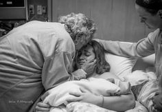 Grandparents meet their new grandchild