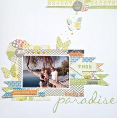@Lo Strick Scrapbookwinkel layout sketch @Lily Morello Bee Design Pinwheel collection