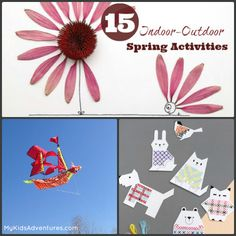 Celebrate spring, no matter what the weather is with 15 spring activities for kids that your family can enjoy either indoors or outdoors (or...