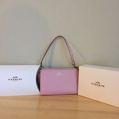 BRAND New little Coach New Coach wristlet with retail tag and box! 💕 Coach Bags Clutches & Wristlets