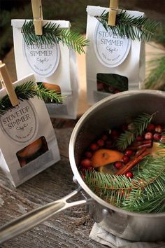 Holiday Stovetop Simmer favors or host/hostess gifts from www.evermine.com #handmadegifts