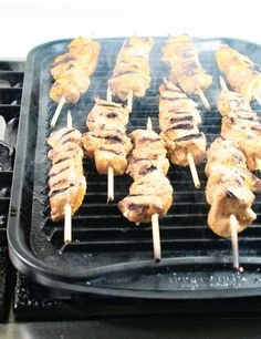 Grill Chipotle Lime Chicken Kabobs indoors or out for a simple, low-calorie healthy dinner.