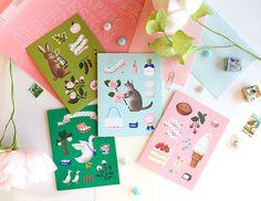 Animals Greeting Cards - Box Set of 8