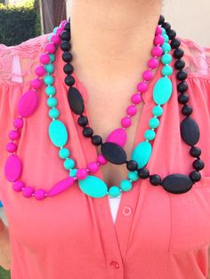 Silicone Teething Necklace BPA Free for by HilarysCraftyDesigns, $13.99