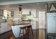 Boat Kitchen Island by RFD Architects | Bonnet Shores Renovation.