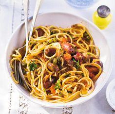 Recept - Spaghetti puttanesca - Allerhande