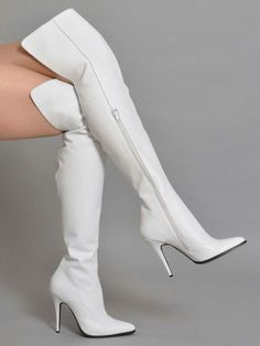 White boots #highheelbootsknee