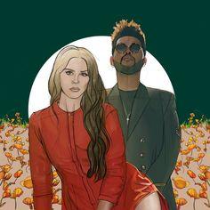 Lana Del Rey + The Weeknd #art by Fernando Monroy
