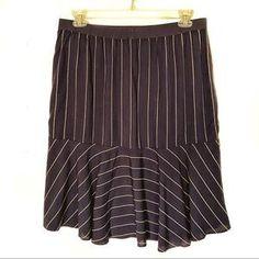 J. Crew Skirts | J Crew Nevereven Midi Skirt Xl Blue Stripe Nwt | Poshmark Deep Blue, Blue Grey, Blossoms, Blue Stripes, Elastic Waist, Taupe, Midi Skirt, J Crew, Skirts