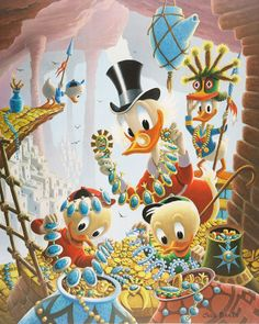 Donald Duck and Uncle Scrooge First National Bank of Cibola - by Carl Barks