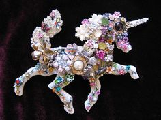 Adiana Unicorn Fantasy Vintage Jewelry Art by ArtCreationsByCJ, $75.00