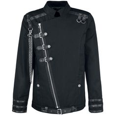 Newly Designed Jacket for Men in Buckle style. Multi Buckle Men Gothic Jacket comes with long Zip on front. Multi Buckle Men Gothic Jacket Have two Pockets, three straps with buckles closer on front, Multi Buckle Men Gothic Jacket is extremely best choice Gothic Shop, Gothic Mode, Dark Fashion, Gothic Fashion, Ropa Punk Rock, Gothic Jackets, Gothic Shirts, Cool Outfits, Fashion Outfits
