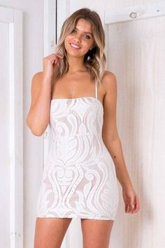 44df39f5f4ed5 Marble Cake Dress - Nude  White Lace - Stelly