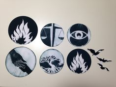 Tris + Four - Set of 7 Movie Version Temporary Tattoos Inspired by Veronica Roth's Divergent