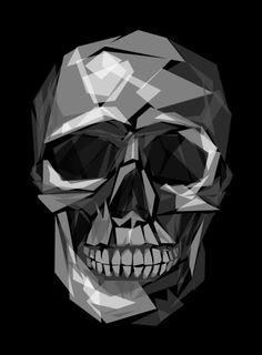 Geometric Skull by Joe Conde.