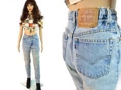 LEVI's STRAUSS 512 Jeans 80s Denim Size 3 by MirrorballBoutique