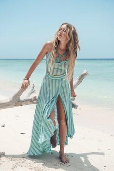 Island Boho Wrap Skirt – Turquoise