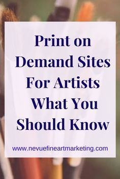 Print on Demand Sites For Artists. Everything you will need to know about Print on Demand sites for artists so you can feel confident selling your art prints.