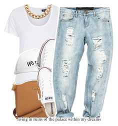 """""""if you have any set request dm me."""" by trinityannetrinity ❤ liked on Polyvore featuring Topshop, Michael Kors, October's Very Own and Converse"""