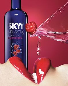 Skyy Vodka Raspberry Ad