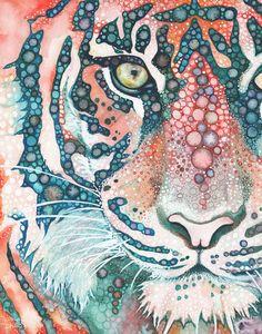 5 x 7 imprimir Tigres de Sumatra están en peligro crítico. La población de tigres de Sumatra, sobreviviendo en la naturaleza hoy en día se estima en sólo 400 individuos. Lamentablemente, estos números están disminuyendo rápidamente. Pinté esta pieza en honor de estas magníficas criaturas y estoy ofreciendo impresiones de mi obra de arte para ayudar a mantener algunos de los últimos Tigres de Sumatra restantes vivo y libre. Beneficios de las ventas de estas impresiones están siendo donado...