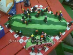 Coolest Watermelon Cake... This website is the Pinterest of birthday cake ideas