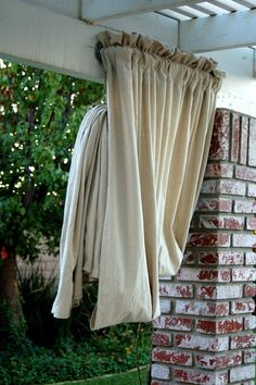 curtain... love this idea for my covered patio in the backyard