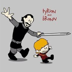 Two of my fave characters from GOT - Calvin and Hobbes style! (Artist unknown) - Imgur