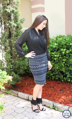 Hmmm, interested but not sure if I'd look lumpy  Karen Kane Janet Pencil Skirt from Stitch Fix