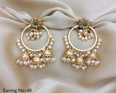 anéis de prata e zircônia cúbica uk prata esterlina e anéis de acoplamento zircónia cúbicos Indian Jewelry Earrings, Indian Jewelry Sets, Jewelry Design Earrings, Indian Wedding Jewelry, Gold Earrings Designs, Ear Jewelry, Bridal Jewelry, Silver Jewelry, Jhumki Earrings