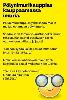 Vitsit: Pölynimurikauppias kauppaamassa imuria - Kohokohta.com Funny Stuff, Comics, Memes, Movie Posters, Funny Things, Film Poster, Popcorn Posters, Comic Book, Comic Books