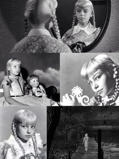 """Patty McCormack as Rhoda Penmark in """"The bad seed"""" 1956 Scary Movies, Old Movies, Horror Movies, Movie Photo, Movie Tv, Haunted Movie, The Bad Seed, Classic Movies, Classic Hollywood"""