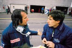 Dois dos meus maiores ídolos no automobilismo:Emerson Fittipaldi and Ayrton Senna