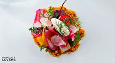 The beautiful dish by D.O.M., n.9 of The World's 50 Best Restaurants 2015 list