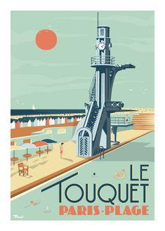 © Marcel LE TOUQUET Paris Plage www.marcel-travelposters.com