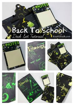 A tutorial on how to create a rock star desk set for the young man in your life who knows how to rock out the school year. Back To School Design Team School Desks, School Themes, Desk Set, Mixed Media Art, Back To School, Gift Wrapping, Young Man, Creative, Projects